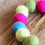 How to Make Felt Balls - Lil Blue Boo Tutorial