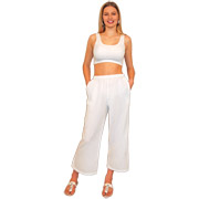 Lanai Crop Pant Cotton Gauze