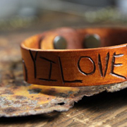 Carved Leather Bracelets - A  Lil Blue Boo Tutorial