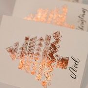iCraft Gold Leaf Christmas Cards - A Mad Mim Tutorial