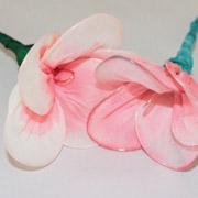Hand Painted Silk Plumeria Flowers