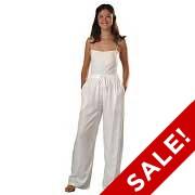 Rayon Elastic Waist Drawstring Pants