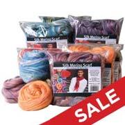 Silk/Merino Nuno Felting Scarf Kits