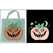 Scary Glowing Pumpkin Bag