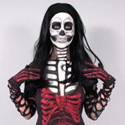 Fabric Painted Skeleton Costume