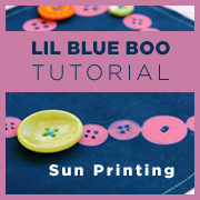 An Introduction to Sun Printing - Lil Blue Boo Tutorial