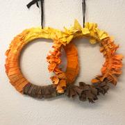 Fall Ombre Wreath Tutorial