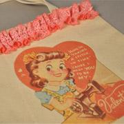 Vintage Valentine Delivery Tote