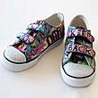 Graffiti Sneakers - Lil Blue Boo Tutorial